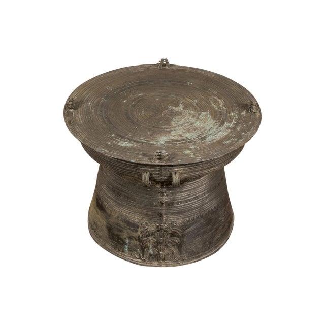 South Asian Bronze Rain Drum Table For Sale