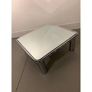 1970s Italian Mario Bellini for B & B Italia Mirrored Chrome Coffee Table Preview
