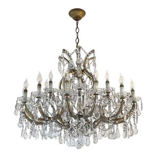Large 22 Arm Marie Therese Chandelier For Sale