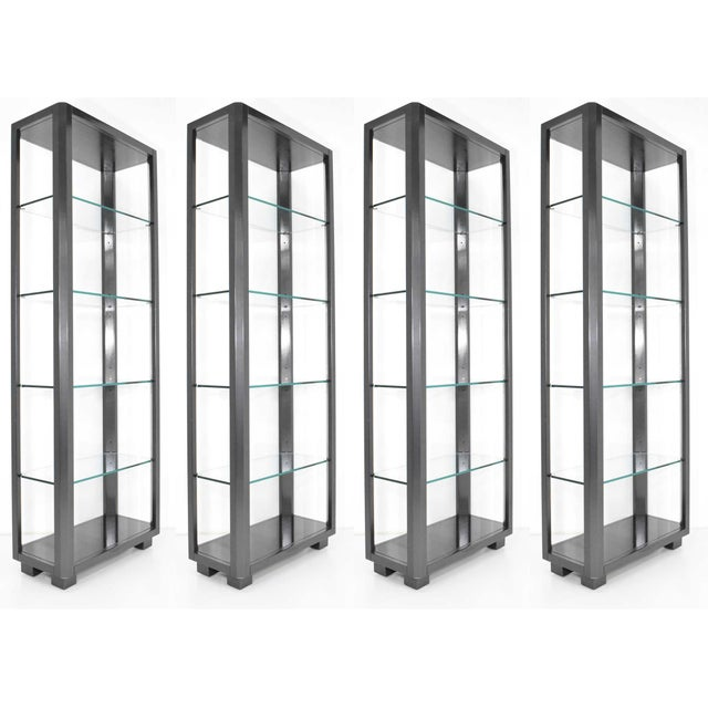 Shelf Unit With Glass Shelves For Sale - Image 9 of 10