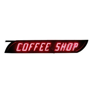 Double-sided Neon Coffee Shop Sign Circa 1950