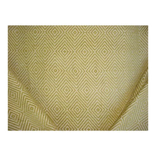 Valdese Circa 1801 Ambrose Chartreuse Diamond Chenille Upholstery Fabric - 13y For Sale