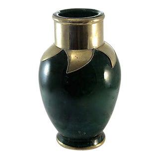 Emerald Moroccan Ceramic Vase