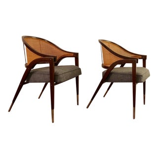 1950's Vintage Edward Wormley for Dunbar Captains Chairs- A Pair For Sale
