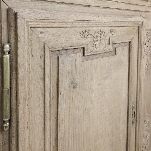 Metal Grand 19th Century Country French Louis XVI Corner Cabinet For Sale - Image 7 of 13