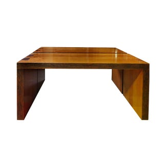 20th Century Modern Pine Tables - a Pair