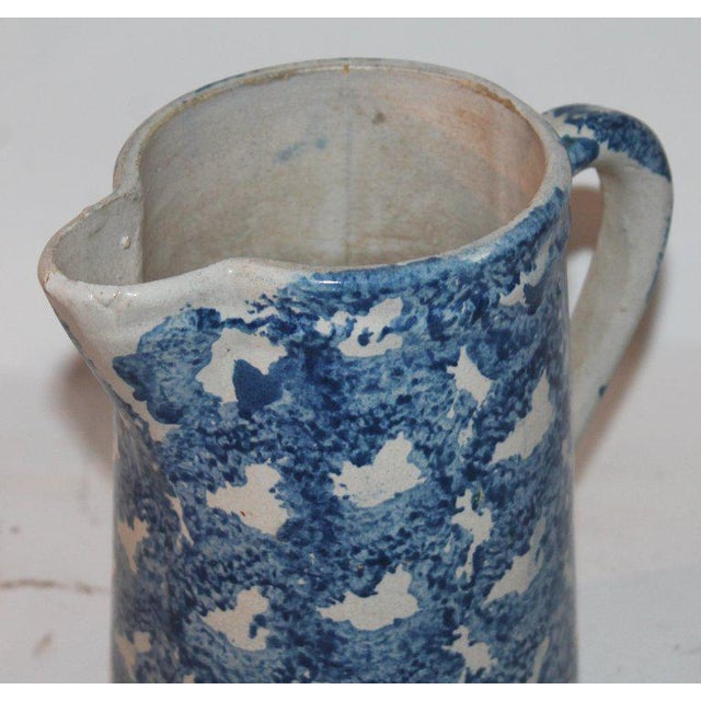 Late 19th Century 19th Century Design Sponge Ware Pitcher For Sale - Image 5 of 8