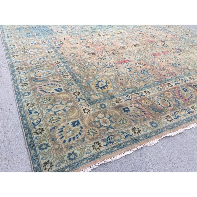 1960s Persian Tribal Overize Handwoven Beige Floor Rug - 9′6″ × 12′5″ For Sale - Image 5 of 11