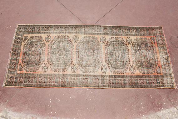 Textile Turkish Tribal Bohemian Runner Rug  4u00278