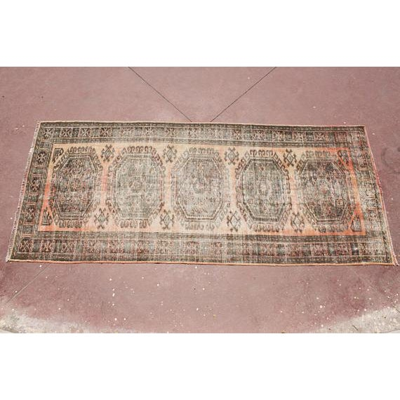 """Textile Turkish Tribal Bohemian Runner Rug - 4'8"""" x 11'1"""" For Sale - Image 7 of 7"""