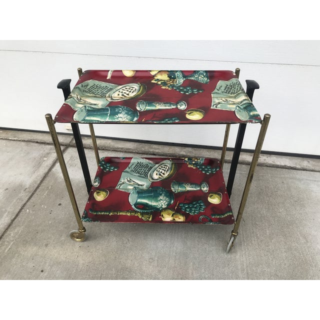 1960s German Still Life Print Bar Cart For Sale - Image 13 of 13