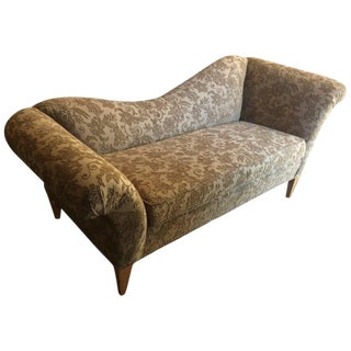 Chenille Upholstered Recamier Style Sofa For Sale