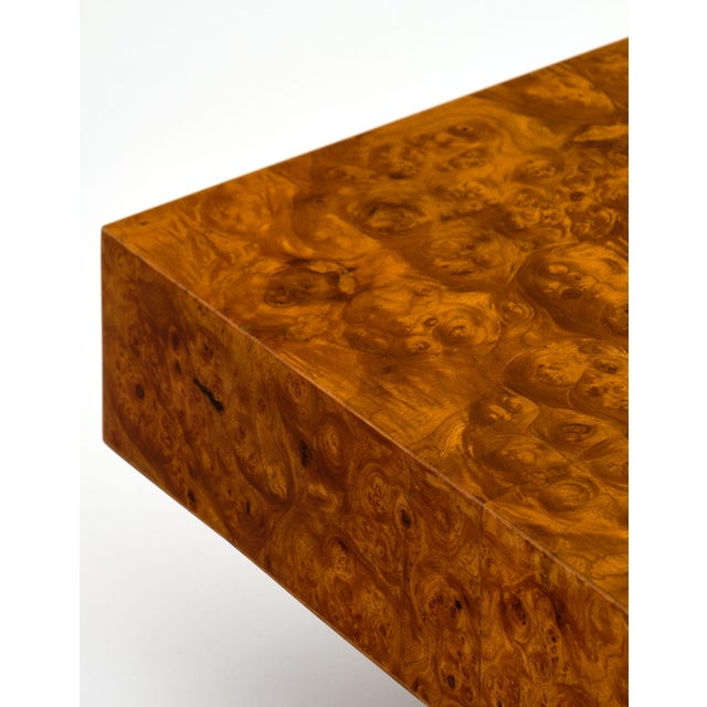 Art Deco Mid-Century Burl Ash Coffee Table For Sale - Image 3 of 10