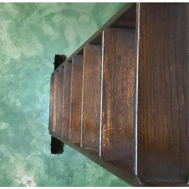 1920s English Traditional Mahogany Library Ladder For Sale - Image 12 of 13