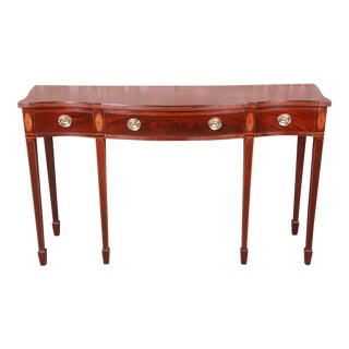 Baker Furniture Historic Charleston Inlaid Mahogany Federal Sideboard Credenza For Sale