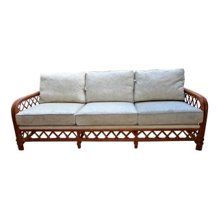 Ficks Reed Rattan Outdoor Sofa For Sale
