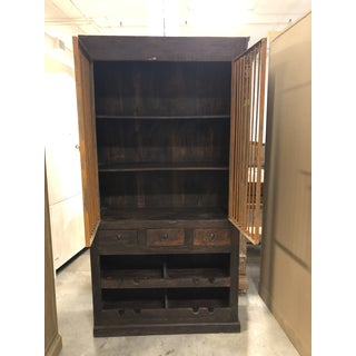 Rustic Style Wood + Metal Storage Cabinet Preview