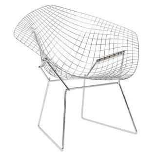 Knoll Chrome Bertoia Diamond Chair For Sale