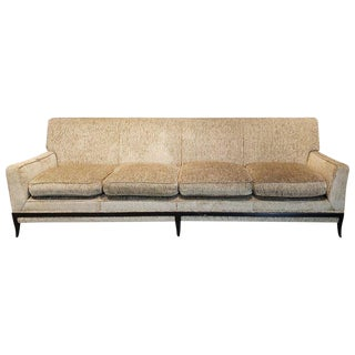 1950s Tommi Parzinger Mid-Century Four-Seat Sofa With Sabre Legs For Sale