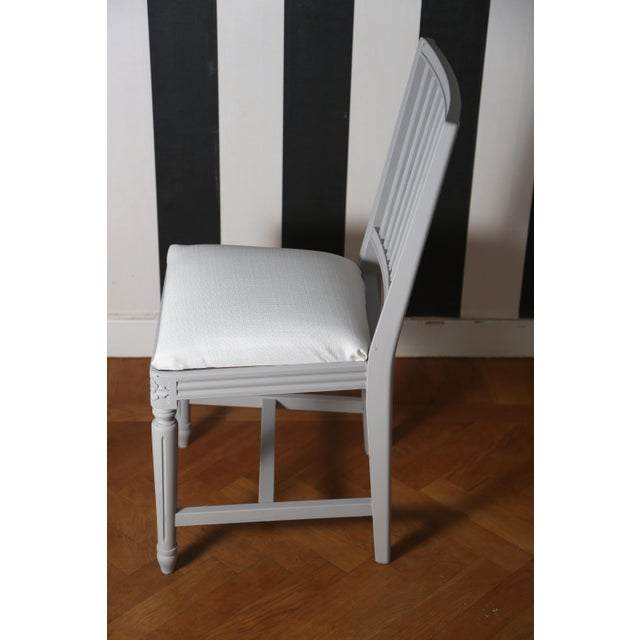 Late 19th Century Swedish Gustavian Dining Chairs- Set of 4 For Sale - Image 4 of 6