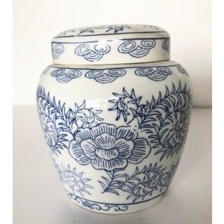 Vintage Blue and White Floral Ginger Jar Preview