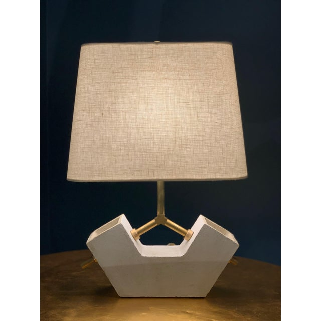 Contemporary Ceramic Anchor Table Lamp For Sale - Image 3 of 3