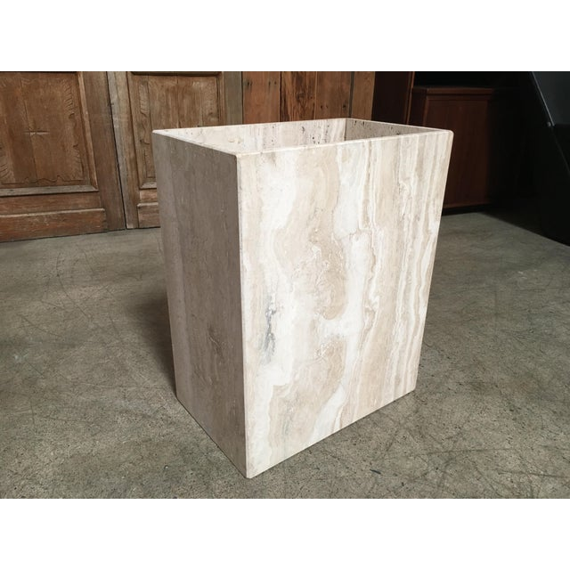 20th Century Modern Travertine Marble Planter For Sale - Image 11 of 11