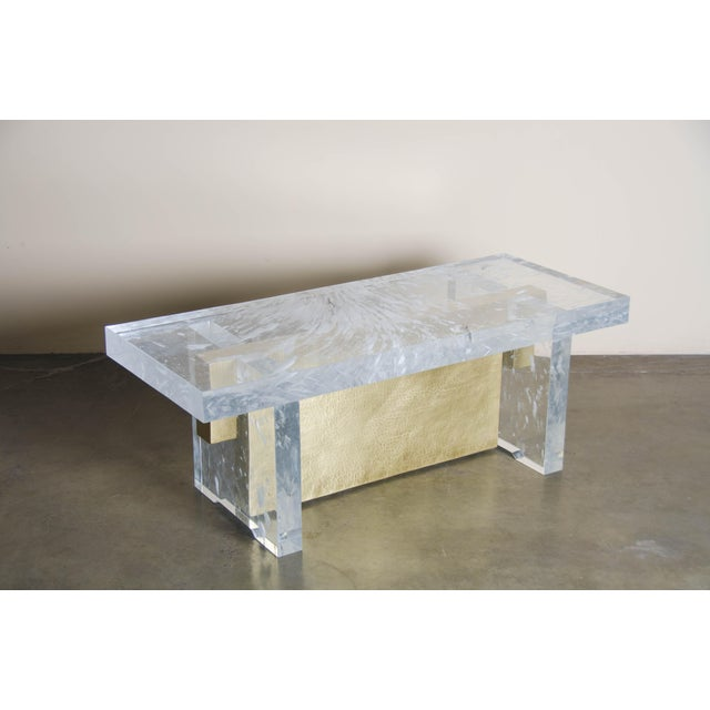 Melrose Bench Crystal Hand Carved Brass Hand Repoussé Limited Edition In Stock Repoussé is the traditional art of hand-...