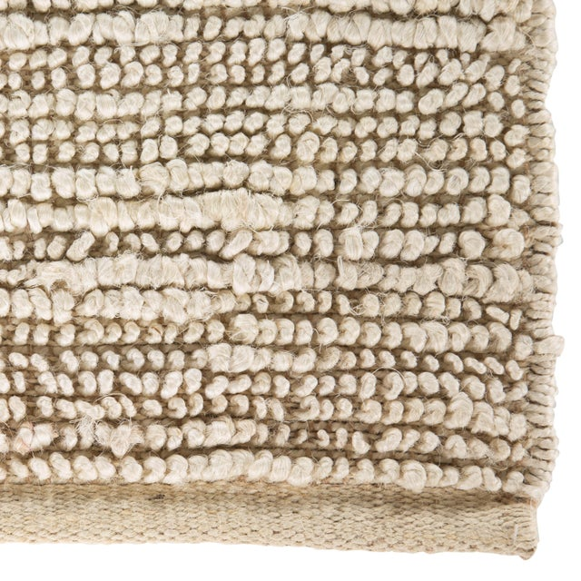 Contemporary Jaipur Living Havana Natural Solid Beige / White Area Rug - 2′ × 3′ For Sale - Image 3 of 6
