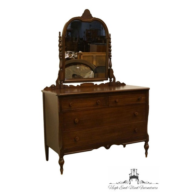 """Sligh Furniture Co. Grand rapids 1967 antique mahogany 48"""" dresser with mirror. We specialize in high end used furniture..."""