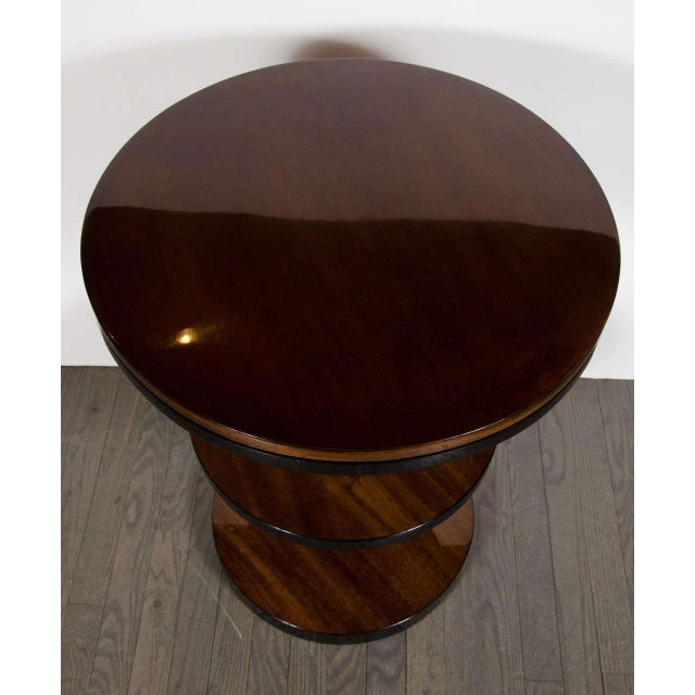 Machine Age Pair of Art Deco Three-Tier Column-Form Occasional Tables For Sale In New York - Image 6 of 8
