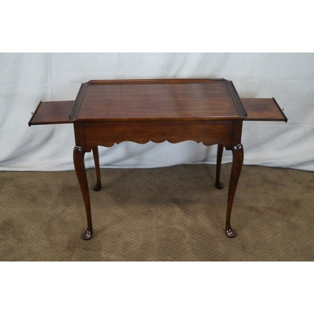 Statton Old Towne Solid Cherry Queen Anne Table - Image 6 of 10