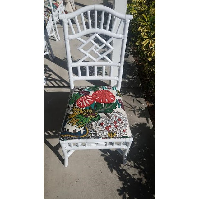 Vintage Chippendale White Lacquered Chairs - Set of 6 - Image 9 of 9