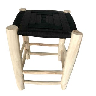 Modern Moroccan Black Stool For Sale