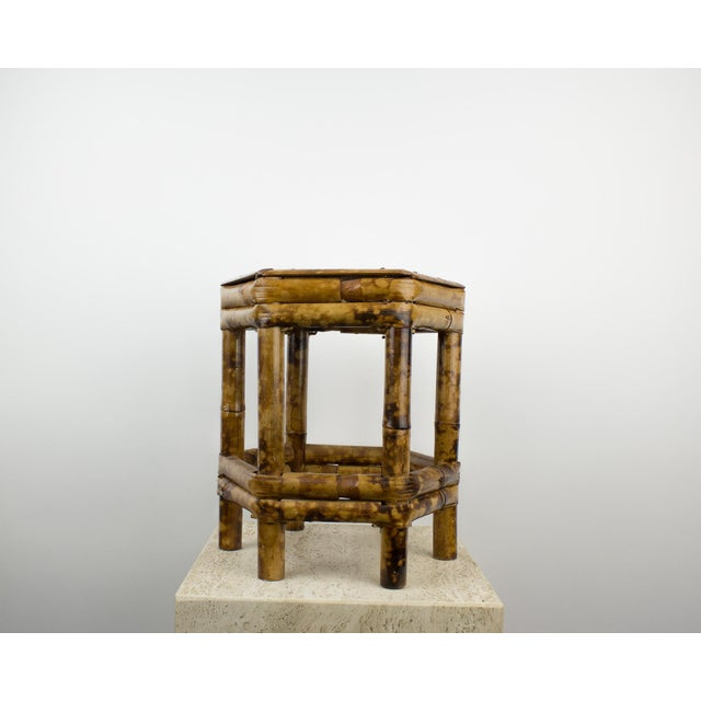 Franco Albini Tortoise Bamboo Plant Stand Table For Sale - Image 4 of 8