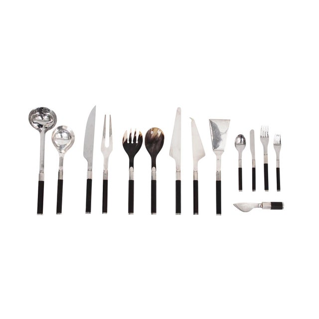 Afra and Tobia Scarpa for San Lorenzo Studio Silver Flatware - 14 Pc. Set For Sale - Image 13 of 13