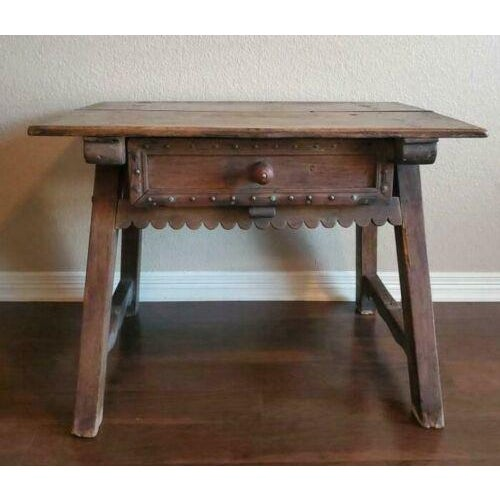 Rustic 18th Century Rustic Spanish Colonial Low Table For Sale - Image 3 of 11