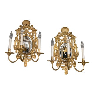 Caldwell Gilt Bronze Sconces - a Pair For Sale