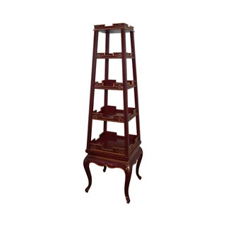 Wildwood Accents Gilt Accented Obelisk Etagere