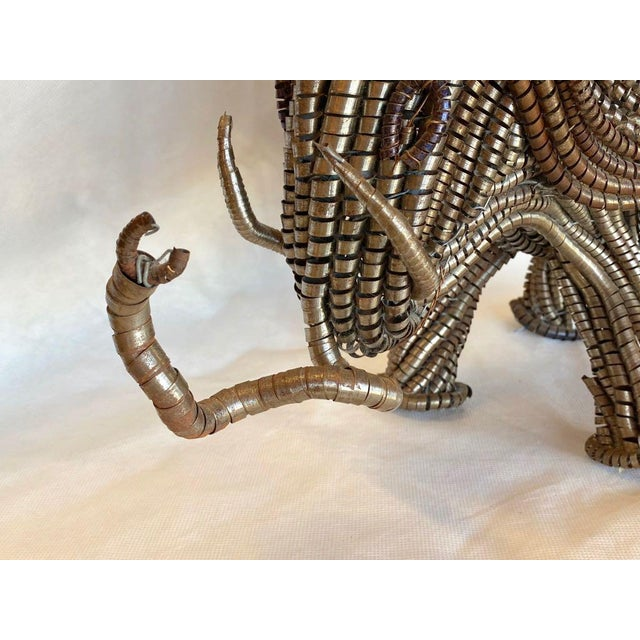 Mid Century Elephant Sculpture From Industrial Material For Sale - Image 10 of 13