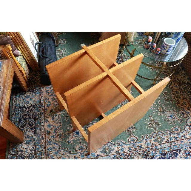 Auburn 1960s Baker Classic 3-TierTiger Maple Side Table For Sale - Image 8 of 10