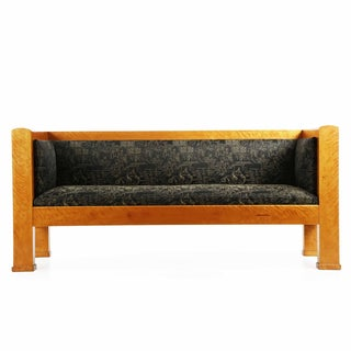 Antique Biedermeier Birch Sofa