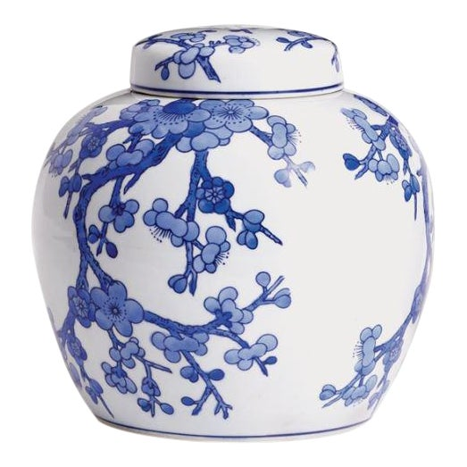Barclay Butera Blue & White Ginger Jar For Sale