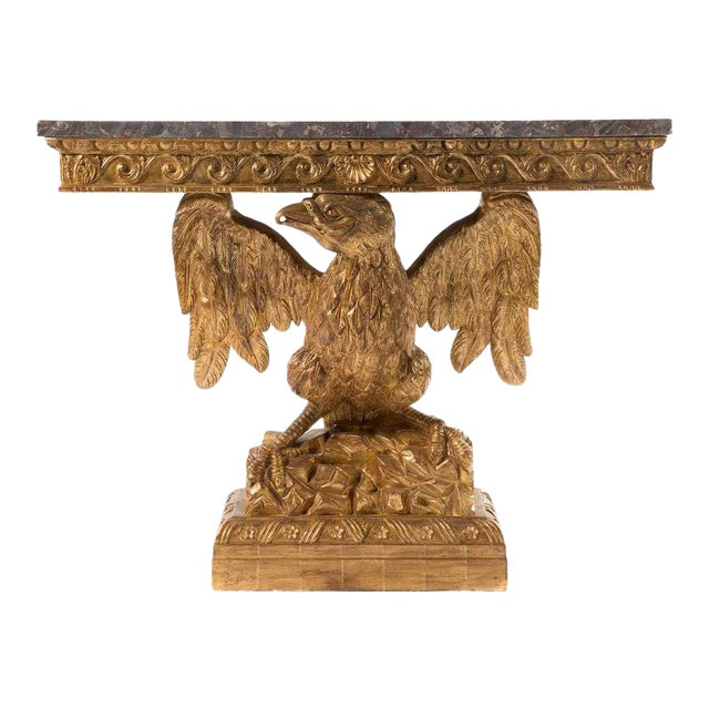 George II Style Carved Gilt Wood Eagle Console For Sale