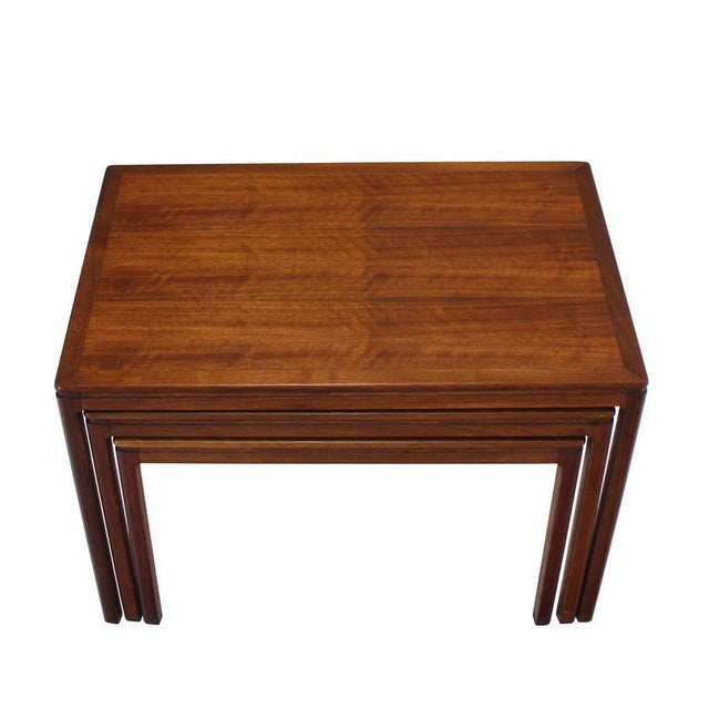 Set of Three Teak Nesting Tables by Dux For Sale In New York - Image 6 of 8