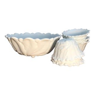 Vintage American Classical Milk Glass Bowls - Set of 6