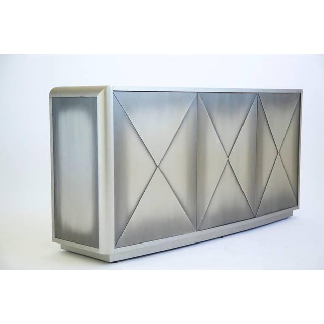 Modern Design Institute of America Painted Steel Buffet For Sale - Image 3 of 10