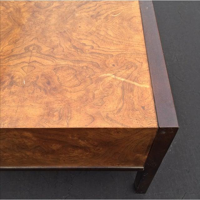 Burl Wood & Mahogany 2 Drawer Side Table - Image 9 of 10