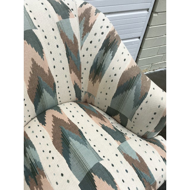 Late 20th Century Clyde Pearson for Lane Upholstered Club Chairs - A Pair For Sale - Image 5 of 8