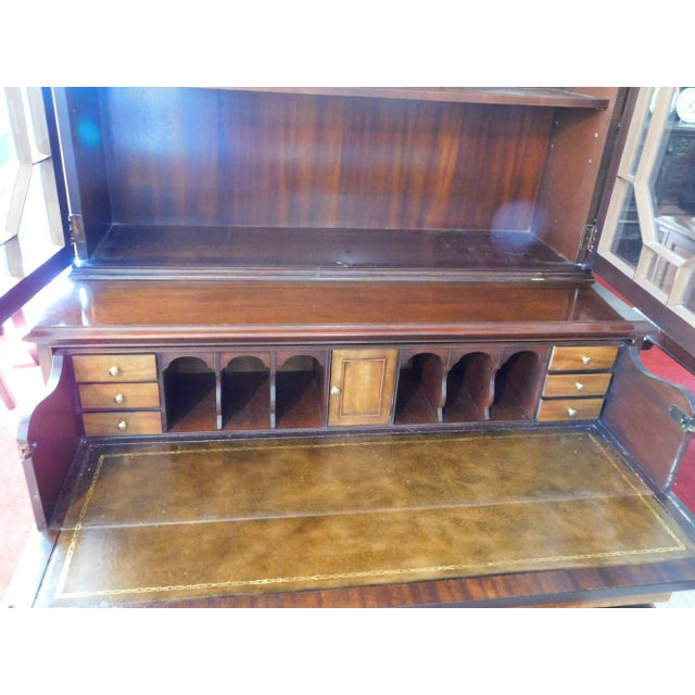 Baker Furniture Company Baker Mahogany Collector's Edition Bookcase Secretary For Sale - Image 4 of 11